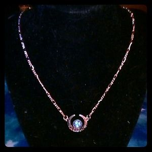BLUE DRAGONS BREATH OPAL WICCAN STYLE NECKLACE